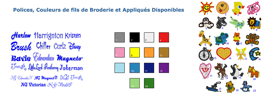 Options de Broderies