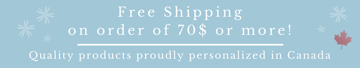 Free Shipping on order of 70$ or more